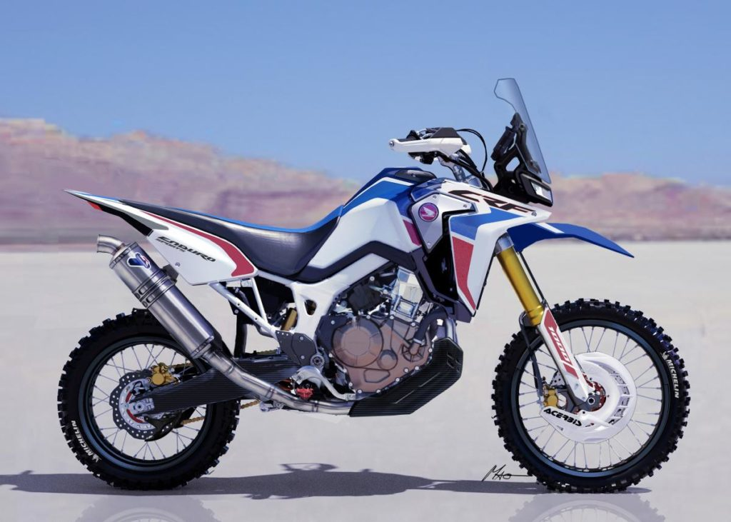 Honda Africa Twin - Laterale